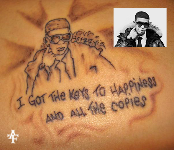 Photos: Fan tattoos Drake. Posted on June 06th, 2009 in Fans, Tattoos