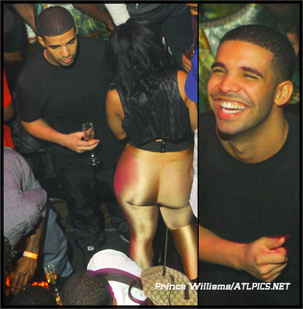 Drake & Maliah Michel @ the Gold Room (Drake Stay Winning)